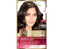 L´Oreal Excellence farba na vlasy 3 hnedá tmavá 1x1 ks