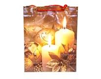 Taška na darčeky Vianočná M 32x26x9cm Quickpack 1ks