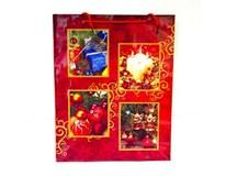 Taška na darčeky Vianočná L 40x32x10cm Quickpack 1ks