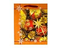 Taška na darčeky Vianočná M 32x26x10cm Quickpack 1ks