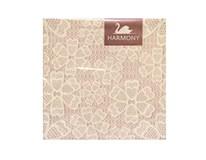 Obrúsky papierové Pink lace 3-vrstvové 33cm Harmony 20ks
