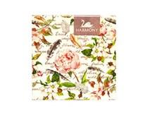 Servítky papierové Pink peony&flowers 3-vrstvové 33cm Harmony 20ks