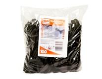 Lyžička čierna plastová Quickpack 100ks