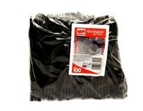 Vidlička čierna plastová Quickpack 100ks