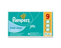 Pampers baby wipes fresh clean vlhčené obrúsky 9x64 ks