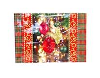 Taška na darčeky Vianočná lakovaná 13x32x10cm 1ks