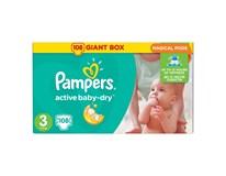 Pampers active baby mega pack+ S3 detské plienky 1x108 ks