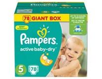 Pampers active baby giant box S5 detské plienky 1x78 ks