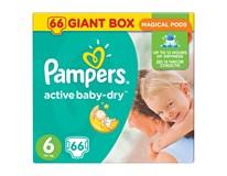 Pampers active baby giant box S6 detské plienky 1x66 ks