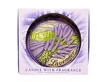 Sviečka disk vôňa levanduľa 130mm 1ks