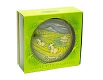 Sviečka disk vôňa zelený čaj 130mm 1ks