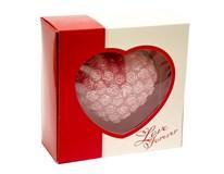 Sviečka Love veľké srdce ružová 1ks