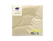 Servítky papierové Filix Greige 3-vrstvové 33cm Duni 20ks