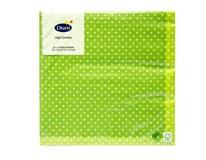 Servítky papierové Brook Green 3- vrstvové 33cm Duni 20ks