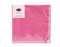 Servítky papierové Brook Pink 3-vrstvové 33cm Duni 20 ks