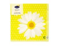 Servítky papierové My Daisy Yellow 3-vrstvové 33cm Duni 20ks