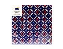Servítky papierové Urban Ethnic Blue 3-vrstvové 40cm Duni 20ks