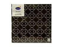 Servítky papierové Sati Black 3-vrstvové 33cm Duni 20ks
