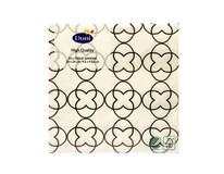 Servítky papierové Sati White 3-vrstvové 24cm Duni 20ks