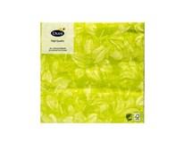 Servítky papierové Firenze Lime 3-vrstvové 33cm Duni 20ks