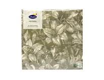 Servítky papierové Firenze Flint Grey 3-vrstvové 33cm Duni 20ks