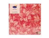 Servítky papierové Firenze Pink 3-vrstvové 33cm Duni 20ks