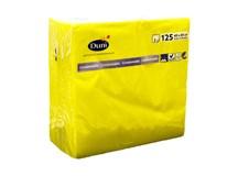 Servítky papierové žlté 2-vrstvové 40cm Duni 125ks