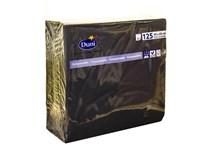 Servítky papierové čierne 2-vrstvové 40cm Duni 125ks