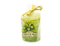 Sviečka vonná zelený čaj oválna 70x90mm 1ks