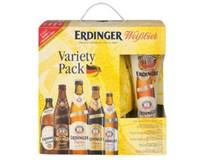 Erdinger pivo variety pack 5x500 ml SKLO + pohár