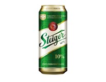 Steiger pivo 10% 4x6x500 ml PLECH