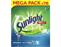 Sunlight All in One Regular tablety do umývačky riadu 1x78 ks