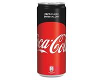 Coca Cola zero 24x330 ml PLECH