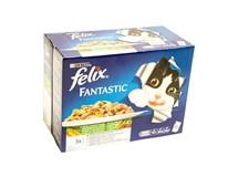 Felix Fantastic zelenina krmivo pre mačky 12x100 g