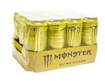 Monster ultra citrón energetický nápoj 12x500 ml PLECH