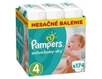 Pampers active baby dry mesačné balenie S4 1x174 ks