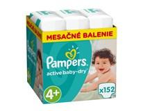 Pampers active baby dry mesačné balenie S4+ 1x152 ks