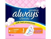 Always classic sensitive normal dámske vložky 1x10 ks