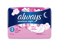 Always ultra sensitive night dámske vložky 1x7 ks