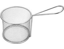 Košík servírovací/fritovací kov krúhly 17x9cm 1ks