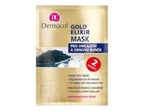 Dermacol Gold elixír maska jednorazová 1x1 ks