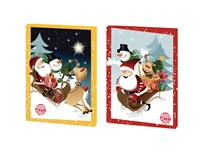 Adventný kalendár Happy Santa mix 2 motívy 1x50 g