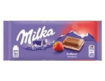 Milka Strawberry/jahoda tabuľková čokoláda 11x100 g