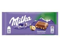 Milka Haselnuss drvený orech  tabuľková čokoláda 11x100 g