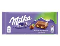 Milka Ganze Haselnusse/celý orech tabuľková čokoláda 8x100 g