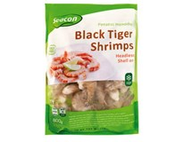 Krevety black tiger surové/nelúpané 26/30 mraz. 1x800 g