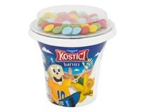 Danone Kostíci Barvíci Jogurt vanilkový s farbiacimi cukríkmi chlad. 10x109 g