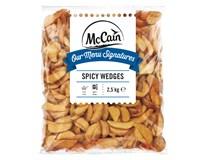 McCain Americké zemiaky Spicy wedges mraz. 1x2,5 kg