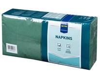 Servítky papierové tmavozelené 2-vrstvové 33cm Metro Professional 250ks