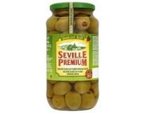 Seville Premium Olivy zelené kráľovské s paprikou 1x935 g